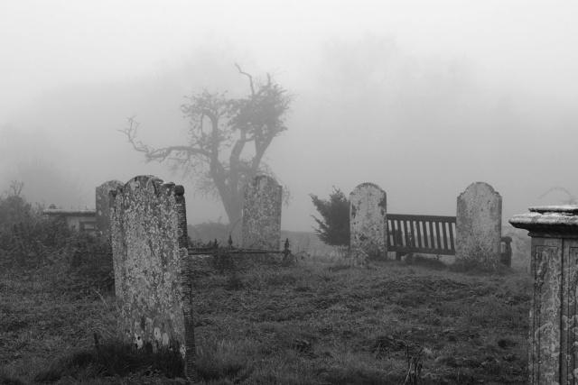 Eerie misty graveyard | Chris Cullen | Flickr