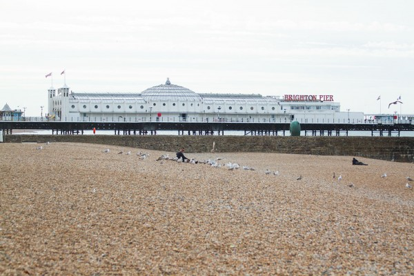 Brighton Pier (formerly the Palace Pier) at Brighton, viewed from the West