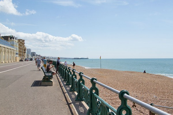 View from Hove to Brighton beach