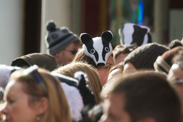 Protesters at the Brighton Stop the Badger Cull