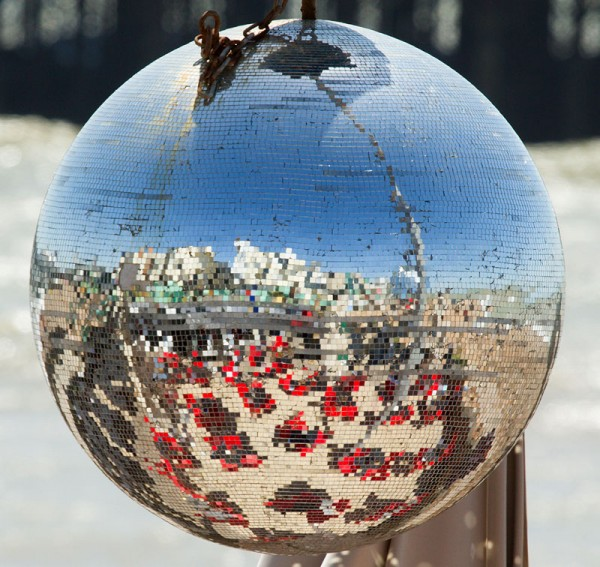 Pixelated view of Brighton seafront