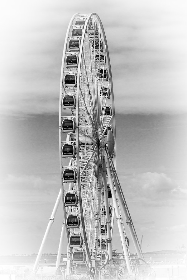 The Brighton Wheel is a recent but well-regarded feature on the historic seafront.