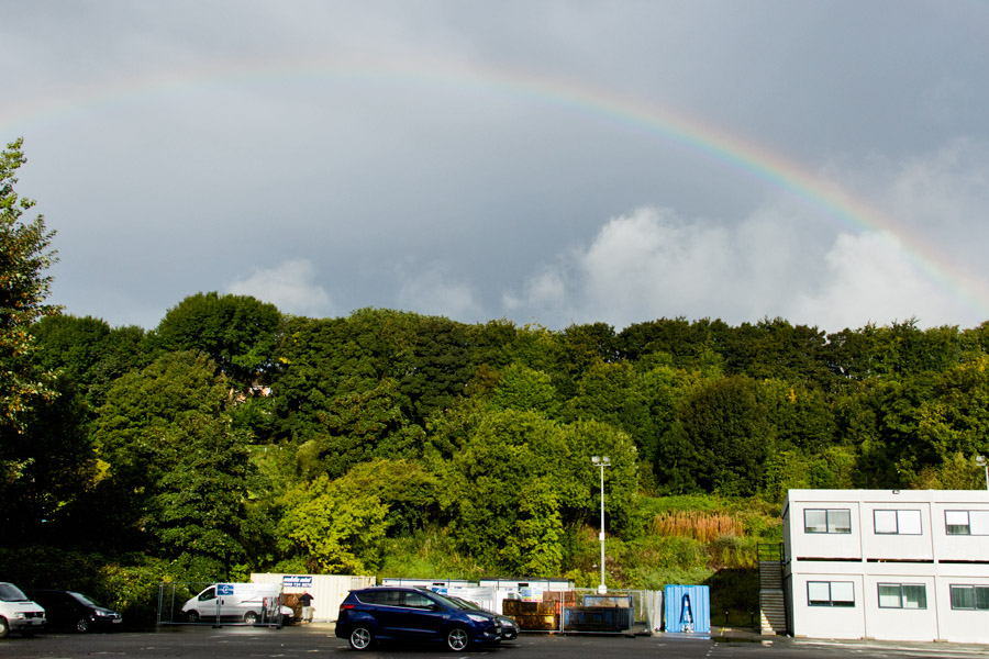 Rainbow over Watts House, University of Brighton
