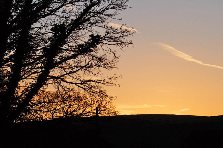 Sunrise at Falmer Village, East Sussex
