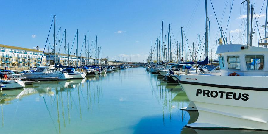 Brighton Marina on Good Friday 2016
