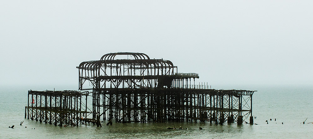 The ruins of the iconic West Pier, Brighton