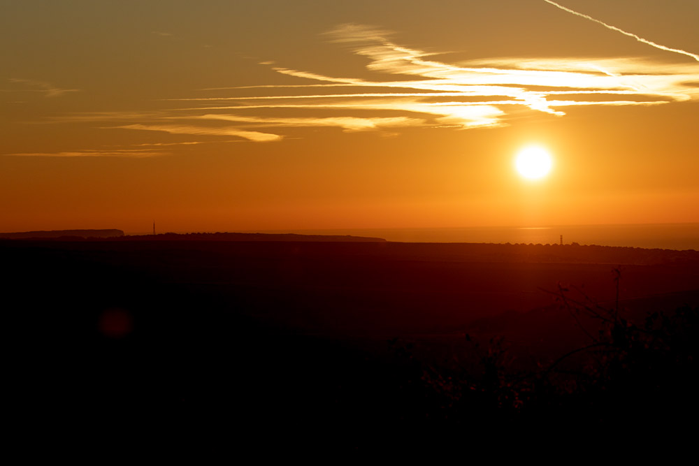 Sunrise over Sheepcote Valley