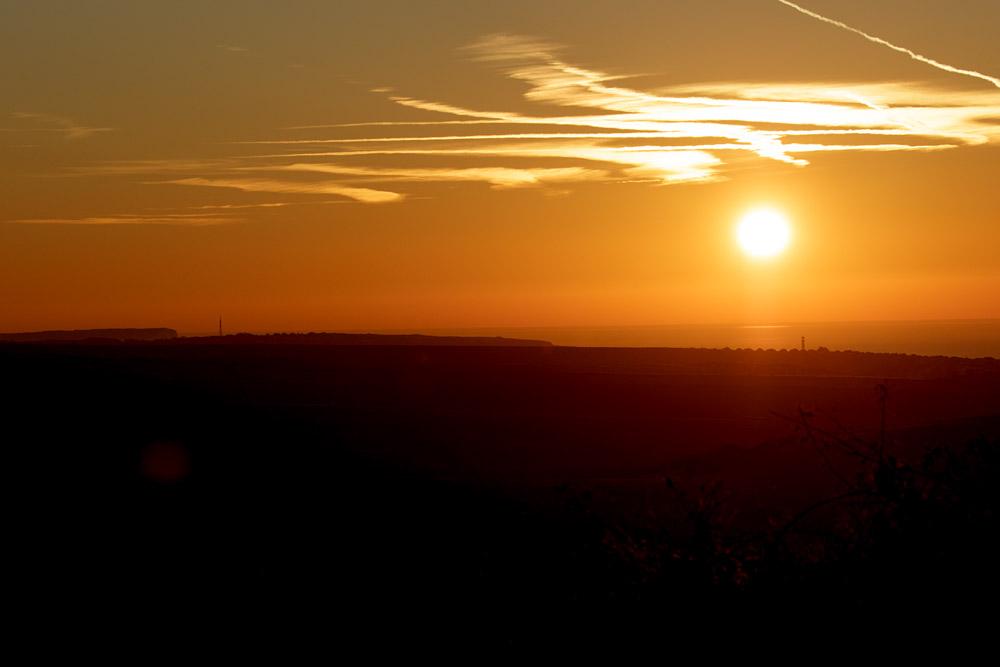 Sunrise over Sheepcote Valley