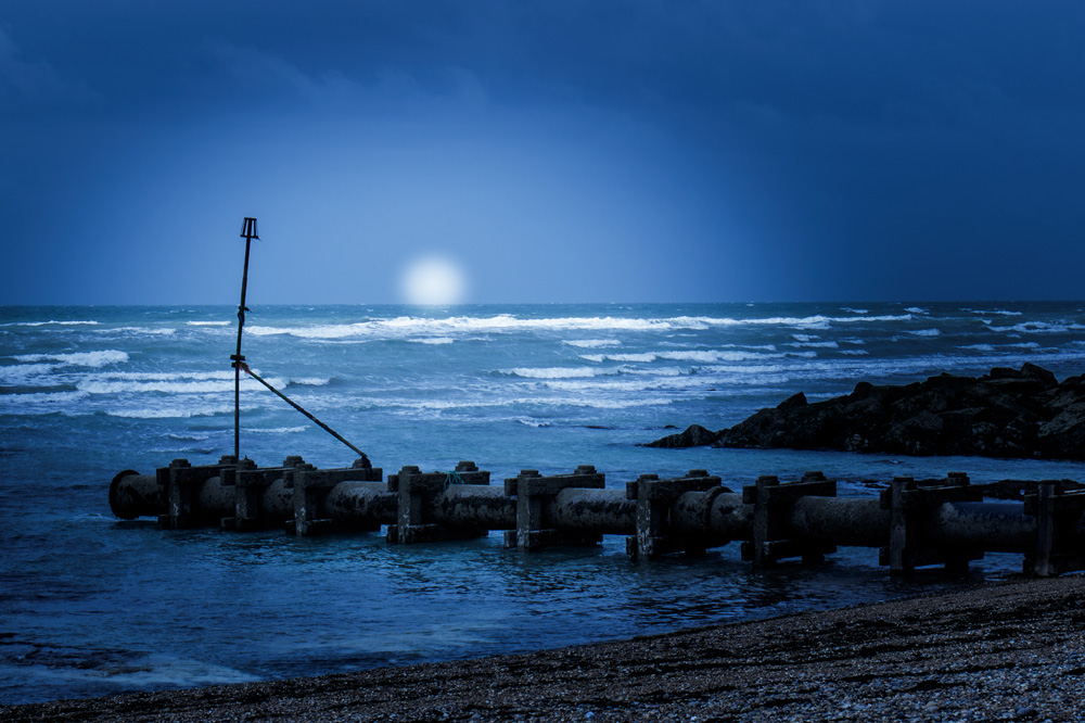 Blue seascape at Rottingdean
