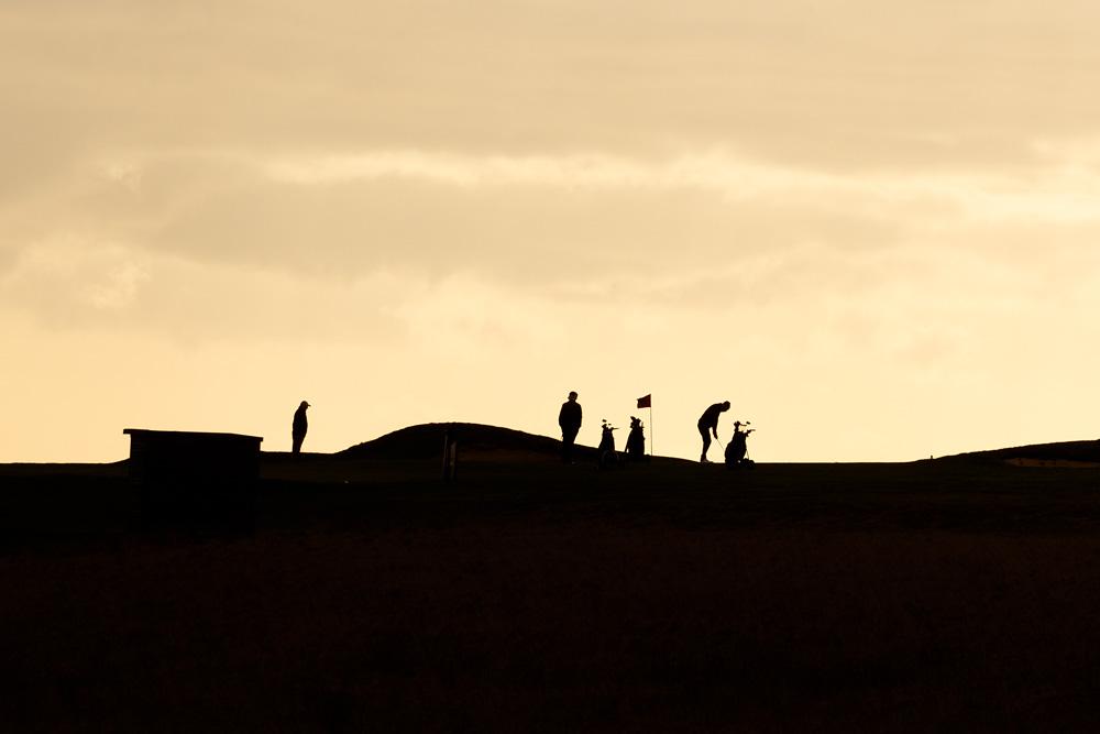 golfers silhouette